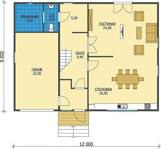 Планировка дома 10 на 12 одноэтажный двухэтажный с